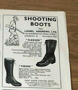 Stgun58 Advert5x4 Shooting Boots From Lionel Andrews Ltd, Flexion And Viking