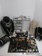 101 Piece Vtg.- Now Rhinestone Costume Jewelry Lot All Wearable, No Junk