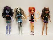 Monster High - 4 Doll Lot - Used
