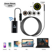 5.5mm/8mm 8led Wifi Endoscope Camera Borescope Rigid Snake Cable For Android Ios