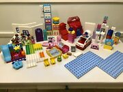 Lego Duplo Lot Incl Doc Mcstuffins Doctors Clinic First Playhouse Minnies Caf