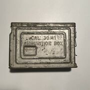 Vintage Wwii Canco .30 Cal M1 Ammo Box Metal Can Military