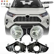 Fit For 19 20 Toyota Rav4 Front Bumper Fog Lights Lamp Wires Switch