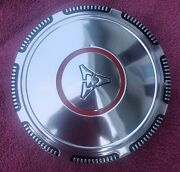 Dodge Mopar Dog Dish Red Circle Hub Cap Aluminum - Very Nice -see The Pictures