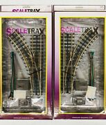 Mth Scaletrax O-31 Switch Set Of 2 Left 45-1003 And Right 45-1004 3 Rail New