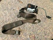 87-91 Ford Pickup Truck Single Cab Left Front Drivers Brown Seat Belt Assembly