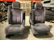 03 Gmc Sierra Used Left Power And Right Manual Cloth Bucket Seats Pair Set