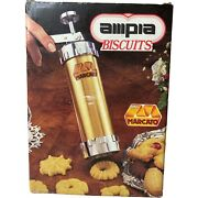 Marcato Ampia Biscuit Cookie Maker Press 20 Discs 4 Nozzles Made Italy Complete