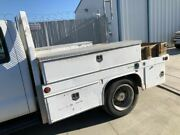 03 Ford F450 Super Duty Used 9' Ft Dually Utility Service Flatbed W Storage Body