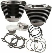 S And S Cycle 2010 Harley Davidson Flhr Road King 106 Big Bore Kit Black