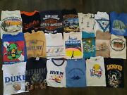 Lot Of 20 Vintage Single Stitch T Shirts Variouse 2000s And Back Screen Stars