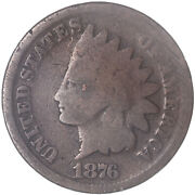 1876 Indian Head Cent Good Penny Gd See Pics J226