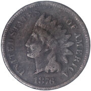 1876 Indian Head Cent Very Good Penny Vg See Pics J307