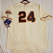 Majestic Willie Mays 56 3xl Signed Authentic Holo San Francisco Giants Jersey