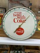 Vintage Coca Cola Advertising Thermometer, 12 Inch, Nice Condition
