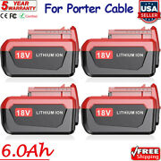 Pc18b 6000mah 18v Lithium Battery For Porter Cable 18 Volt Cordless Power Tools