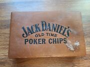 Vintage Jack Daniels Old Time No. 7 Whiskey Plastic Poker Chips Set With Box