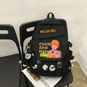 Backpack Anime Chainsaw Man Student Schoolbag Casual Fashion Shoulders Bag 01