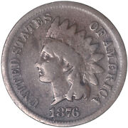 1876 Indian Head Cent Good Penny Gd See Pics J227