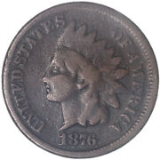 1876 Indian Head Cent Good Penny Gd See Pics J228