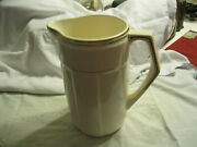 Antique 40and039s 50and039s Rare Art Deco Germany Colditz Veb Steingut Jug Pitcher Only