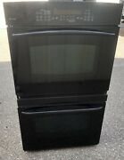 Ge Profile Monogram Model Pt956bom1bb Black Electric Double Convection Oven Used