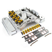 Chevy Bbc 454 Solid Ft Cnc Cylinder Head Top End Engine Combo Kit