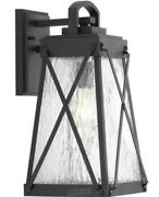 Creighton Collection 1-light Textured Black Clear Water Glass Farmhouse Outdoor