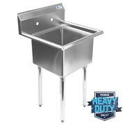 Open Box - Commercial Stainless Steel Kitchen Utility Sink - 23.5 Wide