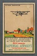 Imperial Airways Pictorial Barometer Postcard Sized Airline Issue Card Hp.42