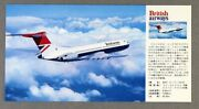 British Airways Vickers Vc10 Airline Postcard Japan Nbc Issue