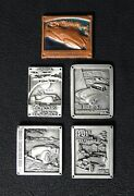Set Of 5 Rare Pebble Beach Concours Dand039elegance Dash Plaques And03988 1992-95