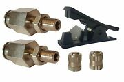 2 - 1/2 Schrader Inflation Fill Valves And Fast Hose Cut Tool Air Ride Suspension