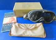 Usaaf Type B-8 Flying Goggles- Poloaroid Corporation Optical - Boxed