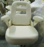 Grady White Deluxe Ii Helm Seat -padded Fold-up Arms Adjustable Slide And Spider