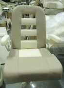 Grady White Deluxe Iii Helm Seat W/ Fold-up Arms Flip-up Bolster 2-toned
