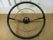 Vtg 1955 1956 Chevy Tri-five Steering Wheel And Chrome Horn Ring Bel Air Nomad 18