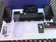 Usa Alco S-4 G Scale Locomotive W/3 Cars- Converted To Battery/remote/sound Rtr