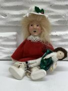 Byers Choice Carolers 6andrdquo Blond Kindle Toddler With Doll