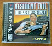 Resident Evil Directorand039s Cut Playstation Ps1 Complete Black Label Single Disc Mn