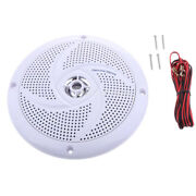 6.5and039and039 White Waterproof Round Speaker Sound System For Boat Marine Car Rv
