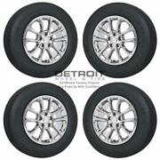 18 Jeep Grand Cherokee Pvd Bright Chrome Wheels Rims And Tires Oem Set 4 201...
