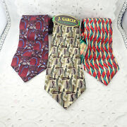Set Of 3 Jerry Garcia Californian Mission Banyan Trees Collector's Ed Neckties
