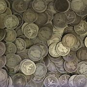 Barber Quarter Roll 90 Silver 10 Face 40 Circulated Mixed Date Us Coin Lot