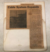 Vintage Anitique Sept,23,1976 Cable System Expands News Channel Added Article