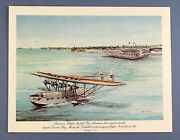 Pan Am First Class Airline Menu Sikorsky S-40 Flying Boat American Clipper Paa