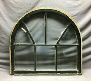 Antique Arch Top Window Sash Dome Top 7 Lite 32x34 Transom Old Vintage 905-21b