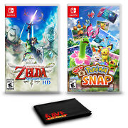 The Legend Of Zelda Skyward Sword Hd And Pokemon Snap - Two Game Bundle For