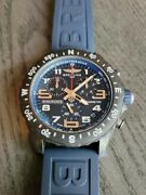 Breitling Endurance Pro Black And Blue Watch - New Full Set W/ Boxes Cards Tag