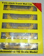 Intermountain 47613-02 Ho A-line 5-unit Twin Stack Container Car-dttx 63329